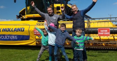 Adam Henson, Martin Parkinson and young visitors